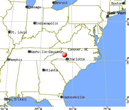 Conover, North Carolina map