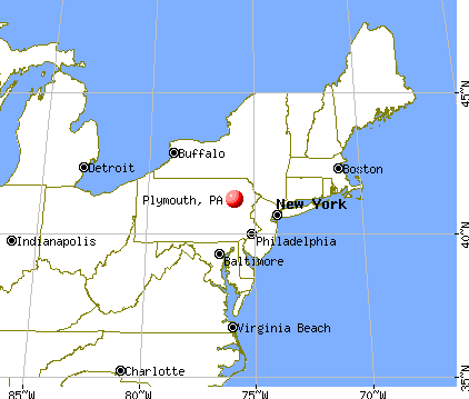 Plymouth, Pennsylvania map