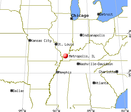 Metropolis, Illinois map