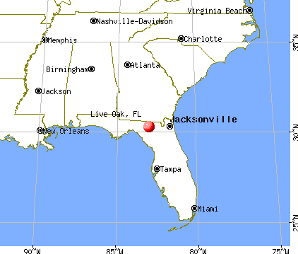 Live Oak, Florida map