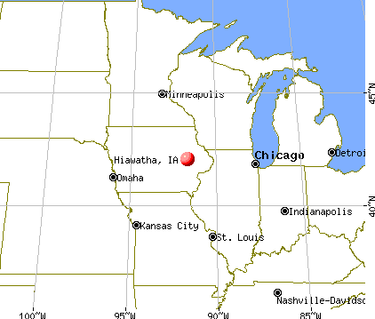 Hiawatha, Iowa map