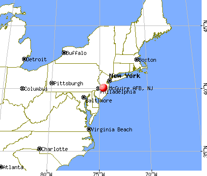 McGuire AFB, New Jersey map