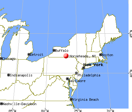 Horseheads, New York map