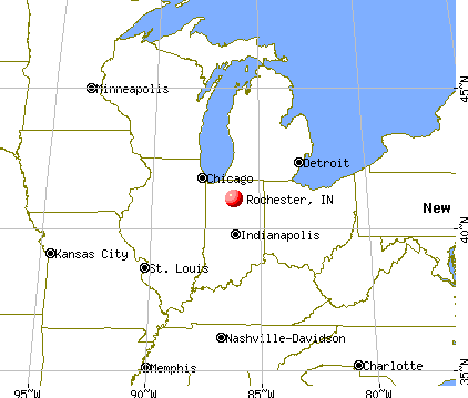 Rochester, Indiana map