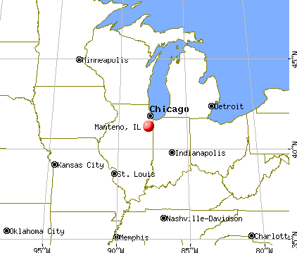 Manteno, Illinois map