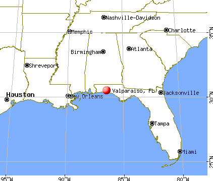 Valparaiso, Florida map