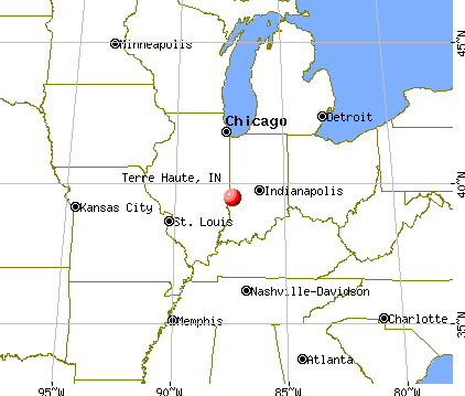 Terre Haute, Indiana map