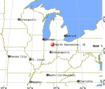 North Manchester, Indiana map