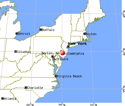 Berlin, New Jersey map