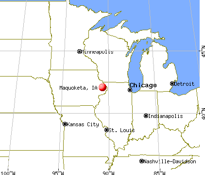 Maquoketa, Iowa map