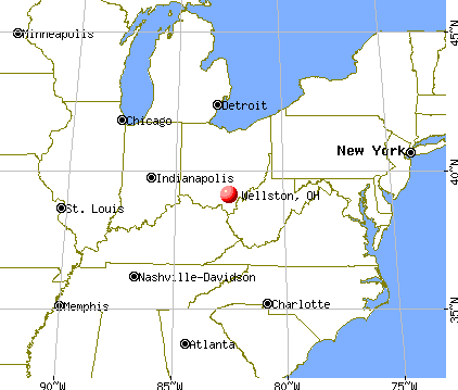 Wellston, Ohio map