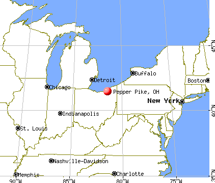 Pepper Pike, Ohio map