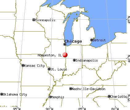 Hoopeston, Illinois map