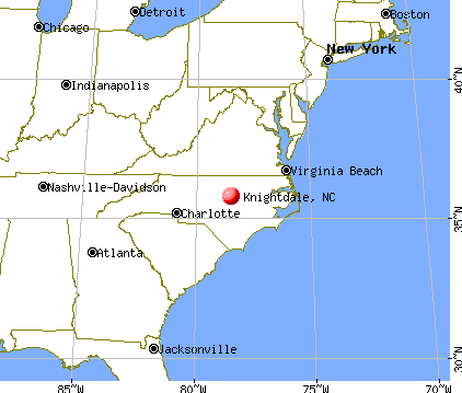 Knightdale, North Carolina map