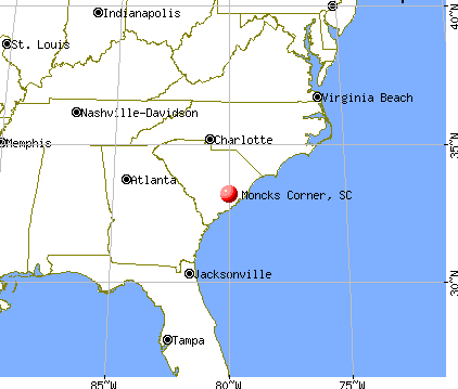Moncks Corner, South Carolina map