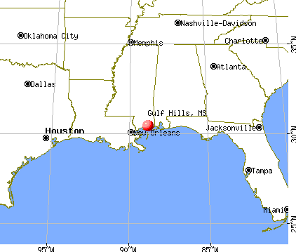 Gulf Hills, Mississippi map