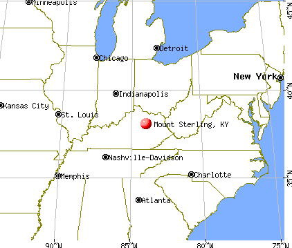 Mount Sterling, Kentucky map