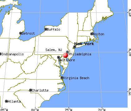 Salem, New Jersey map