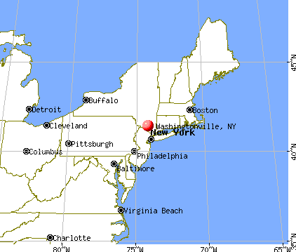 Washingtonville, New York map