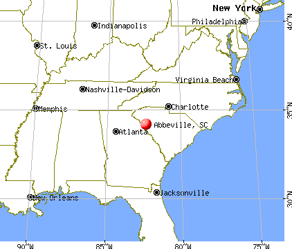Abbeville, South Carolina map