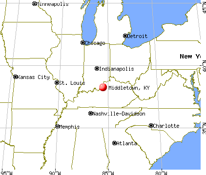 Middletown, Kentucky map