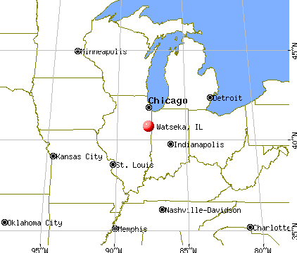 Watseka, Illinois map