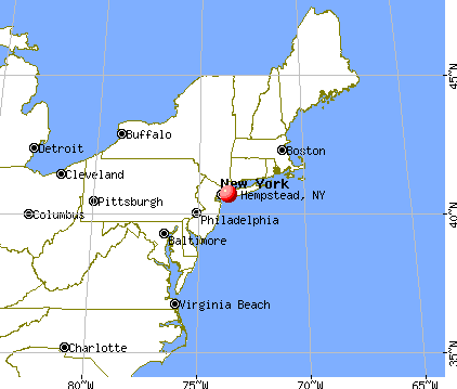 Hempstead, New York map