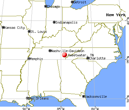 Sweetwater, Tennessee map