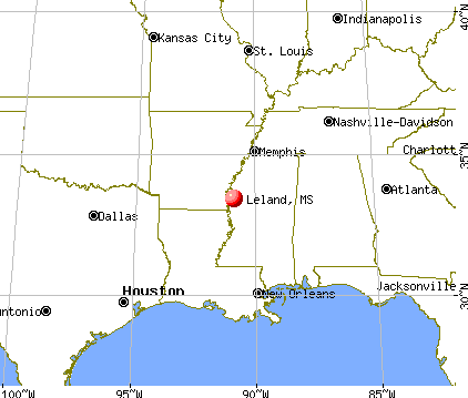 Leland, Mississippi map