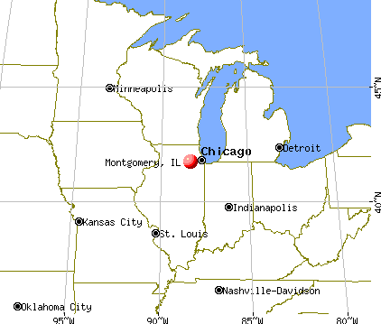 Montgomery, Illinois map