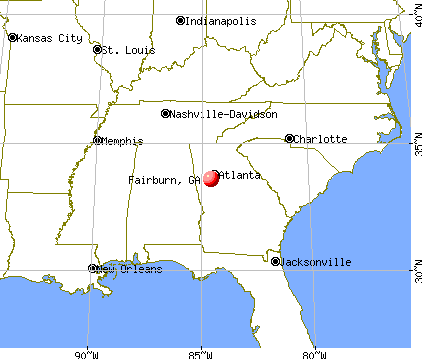 Fairburn, Georgia map