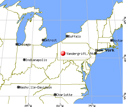 Vandergrift, Pennsylvania map