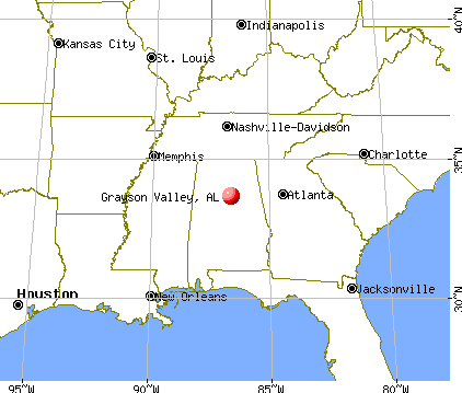 Grayson Valley, Alabama map