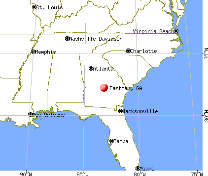 Eastman, Georgia map