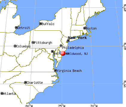 Wildwood, New Jersey map