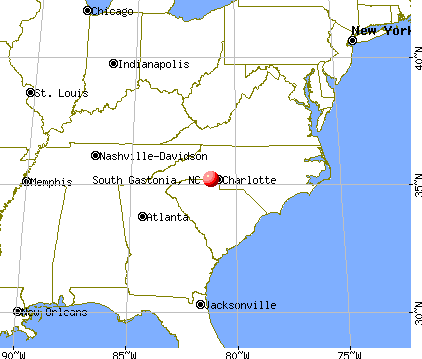 South Gastonia, North Carolina map