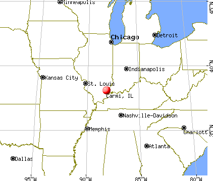 Carmi, Illinois map