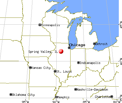 Spring Valley, Illinois map