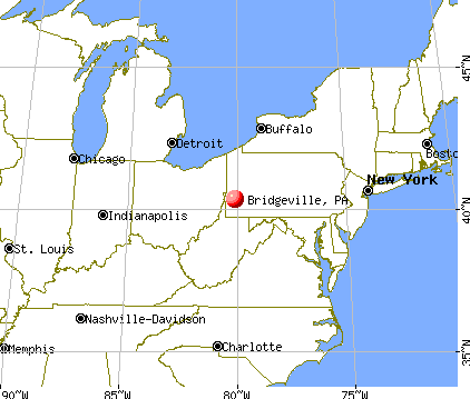 Bridgeville, Pennsylvania map