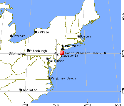 Point Pleasant Beach, New Jersey map