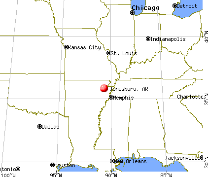Jonesboro, Arkansas map