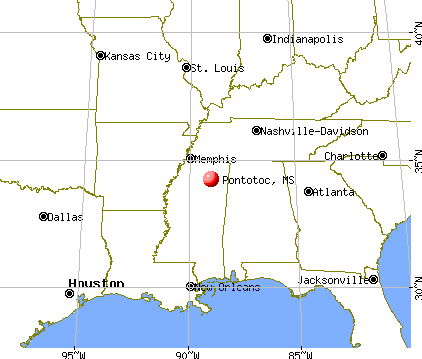 Pontotoc, Mississippi map
