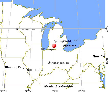 Springfield, Michigan map