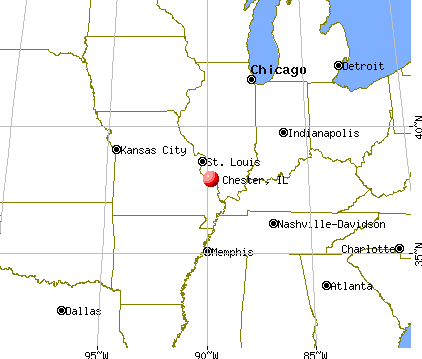 Chester, Illinois map