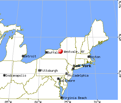 Westvale, New York map
