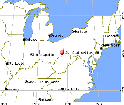 St. Clairsville, Ohio map