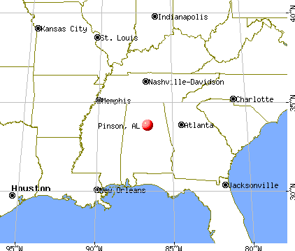 Pinson, Alabama map