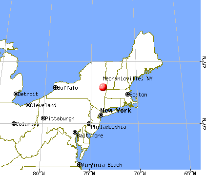 Mechanicville, New York map