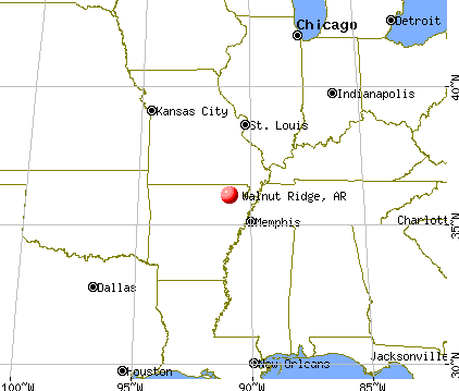 Walnut Ridge, Arkansas map