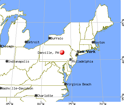 Danville, Pennsylvania map